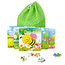 16 piece puzzles for kids ages 4 8 Jigsaw puzzles small easy zoo puzzles fun puzzles mind puzzles