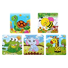 wooden puzzles for kids ages 4 christmas children jigsaw puzzle toddler 2 3 years animal block girls