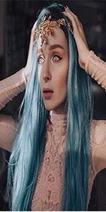 green wigs blue wigs