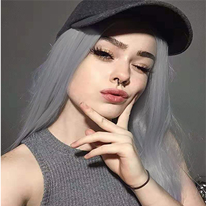 synthetic wigs grey
