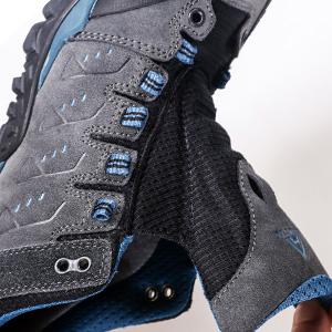 men climbing hiking shoes