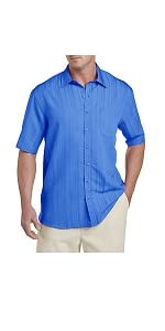 Island Passport by DXL Big and Tall Jacquard Stripe Sport Shirt