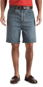 Harbor Bay by DXL Big and Tall Continuous Comfort Denim Shorts