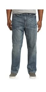 True Nation by DXL Big and Tall Cali Cool Relaxed-Fit Stretch Jeans