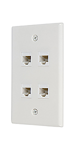 Ethernet cat6 4 port wall plate
