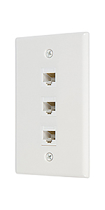 Ethernet cat6 3 port wall plate