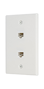 Ethernet cat6 2 port wall plate