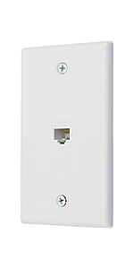 Ethernet cat6 1 port wall plate