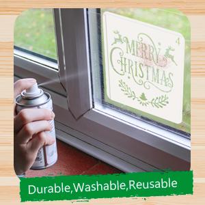 8 Pcs Christmas Stencils Template - Reusable Plastic Craft Art Drawing Painting Spraying Window