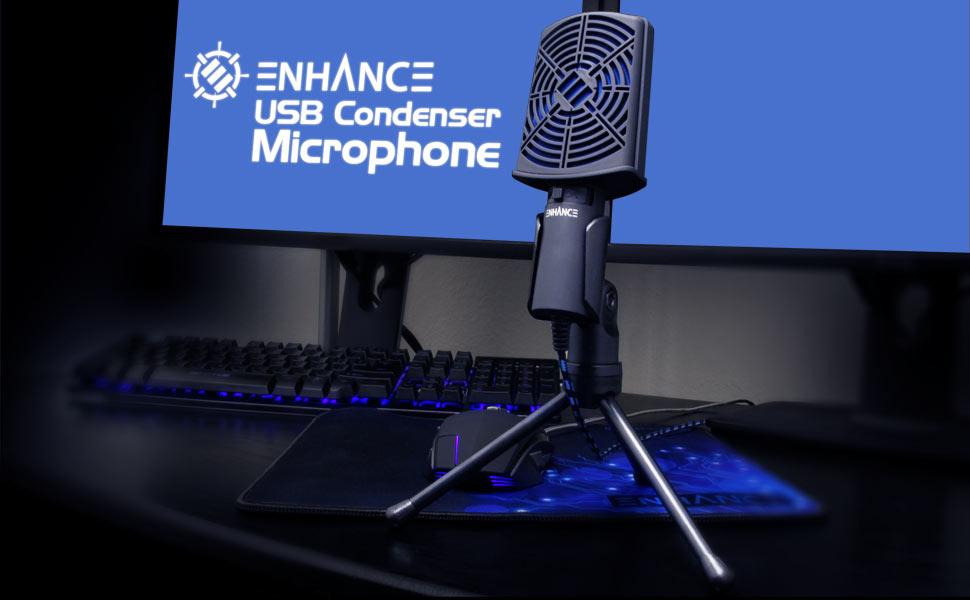 CM1 condenser microphone on gaming desk