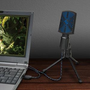 mic on desktop plugged into PC