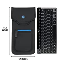 Dimensions of case with keyboard beside it to show fit