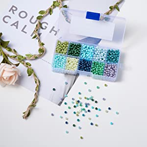 Glass Pearl Beads Box