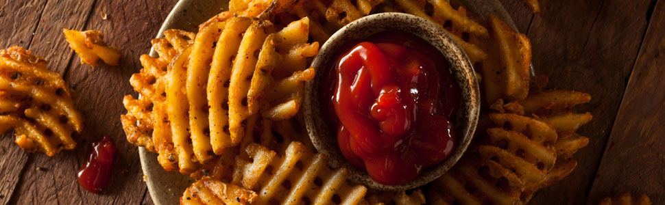 Ketchup with fries for dipping