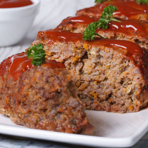 Ketchup on Meatloaf