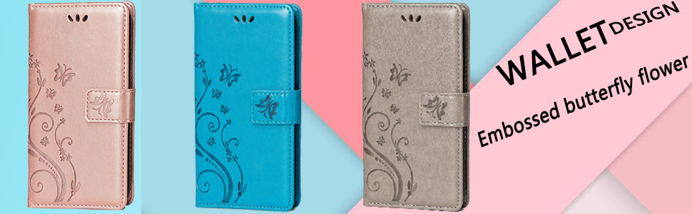 All colors for Embossed butterfly flower pattern