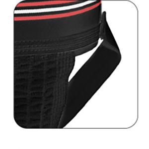 leg strap resist twisting bunching comfortable durable