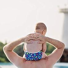 Baby fish swim diaper