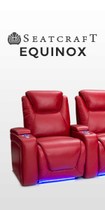 Seatcraft Equinox Leather Power Recliner with Power Lumbar Support, Adjustable Powered Headrests