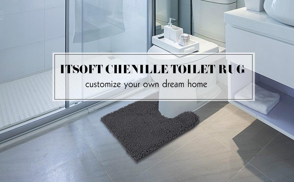 chenille toilet rug