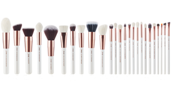 Jessup labeled makeup brushes