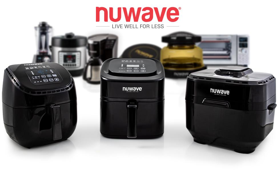 nuwave brio 3qt 6qt 10 qt airfryer