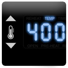 digital temperature control nuwave brio airfryer