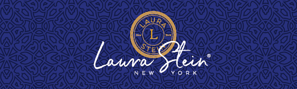 Laura Stein New York Logo on blue background
