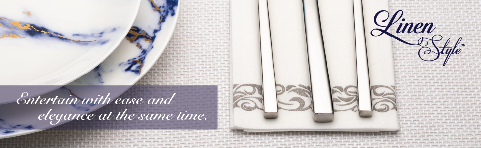 Entertain with ease and elegance at the same time with linen style napkins guest towels