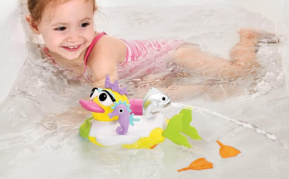 Mermaid princess duck yookidoo baby bath toy tub bathtub kid child play girl preschool toddler gift