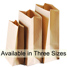 three sizes to choose from