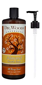 dr woods almond castile soap all things good organic naturally for all skin types cruelty free