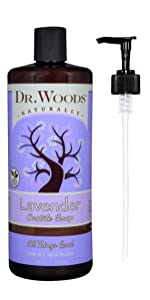 dr woods naturally castile soap with pump all things good for all skin types organic cruelty free