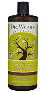 tea tree castile soap dr woods naturally all things good castile soap for all skin types