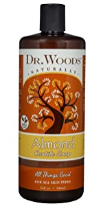 almond dr woods naturally all things good castile soap for all skin types organic lathering