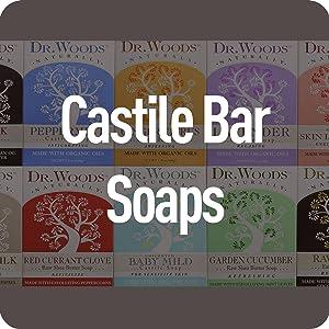 Dr Woods Castile Bar Soaps Cleanse Exfoliate Awaken Radiant Vegan Organic Family Children Natural