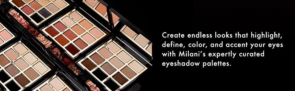 Milani eyeshadow palettes