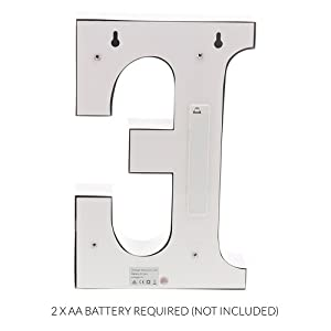 back photo for Metal Marquee Letter E Light Up