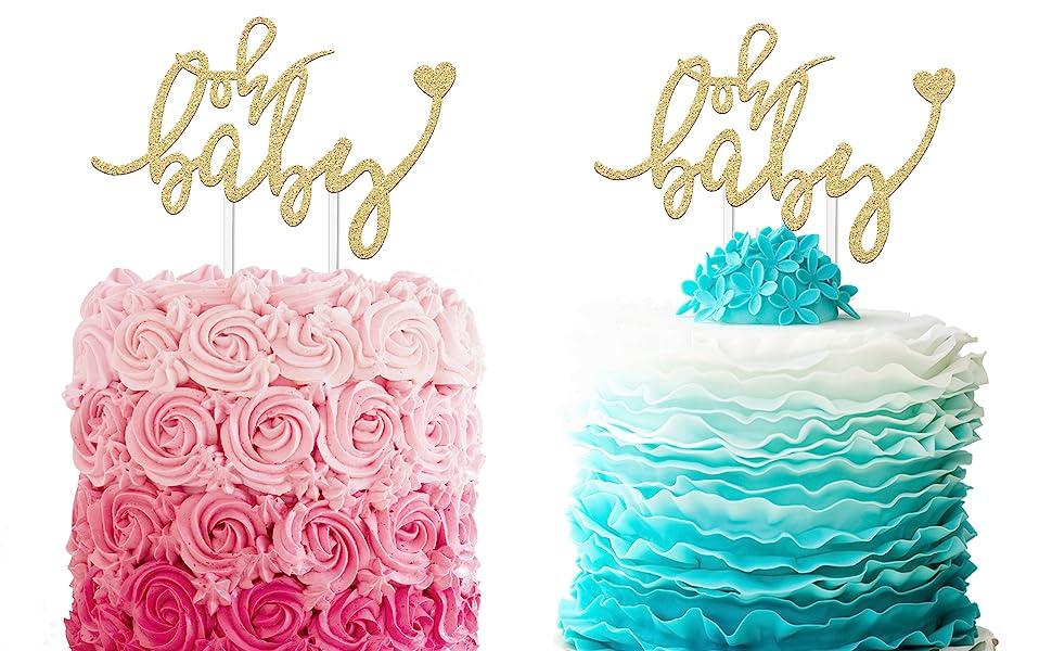 Boy or Girl Baby Shower Cake Topper