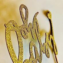 Gorgeous Gold Cake Topper Unique Design
