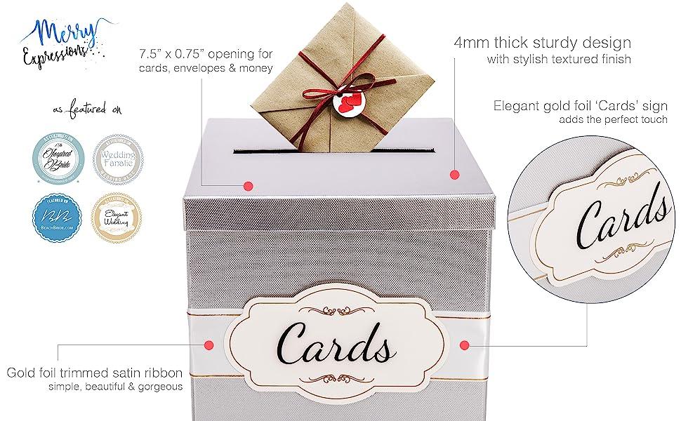 High quality silver gift card box