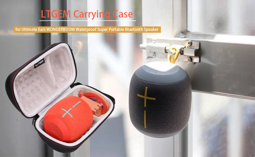 LTGEM EVA Hard Case for UE WONDERBOOM IPX7 Waterproof Super Portable Bluetooth Speaker