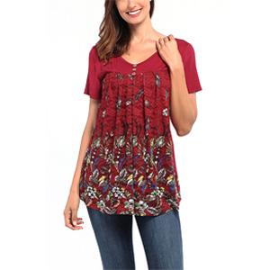 short sleeve tunics for women