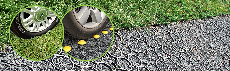 gravel paver, grass paver, permeable paver, truegrid