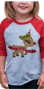 unicorn christmas shirt for girls