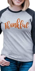 thankful womens thanksgiving shirt greatful blessed holiday give thanks