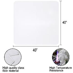 fiberglass emergency fire blanket flame retardant sheet cloth