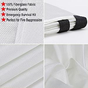 fire blanket flame retardant fiberglass sheet