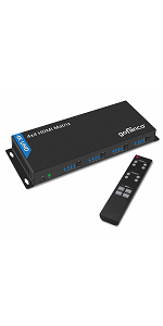 4x4 HDMI Matrix control switch switcher input output four by wall mountable bracket remote IR select