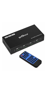 matrix hdmi 4x4 switch 4k hdr remote control SPDIF output extractor switch splitter 4 in 4 out